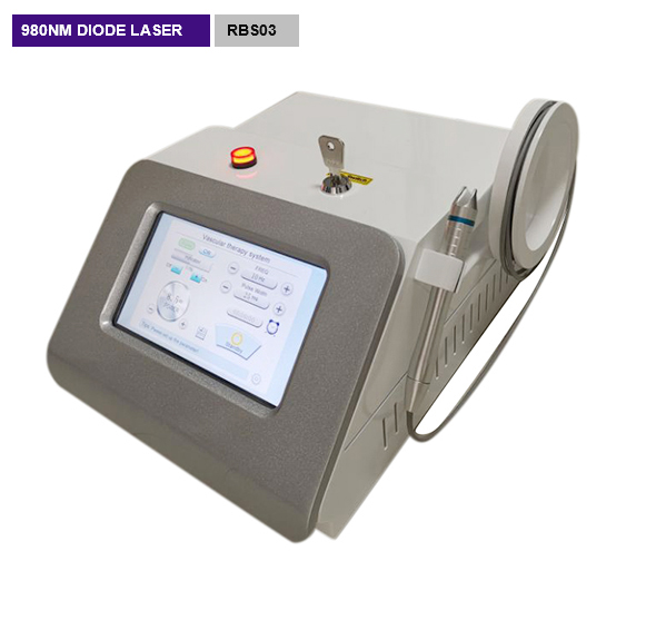 Medical laser blood vessel removal 980nm Diode laser removal machine RBS03