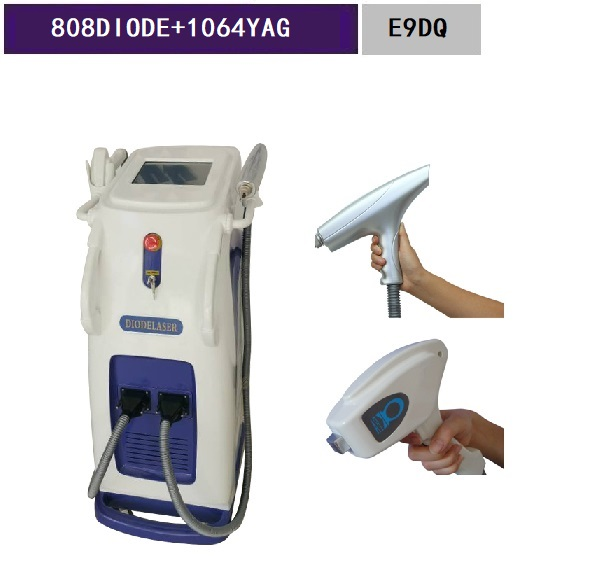 Nd yag Q-Switch and Hair Removal Feature 808 diode laser permanent hair removal E9DQ