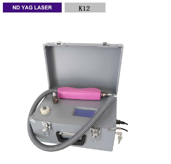 Portable Q-switch nd Yag Laser all color tattoo removal optional beauty device K12