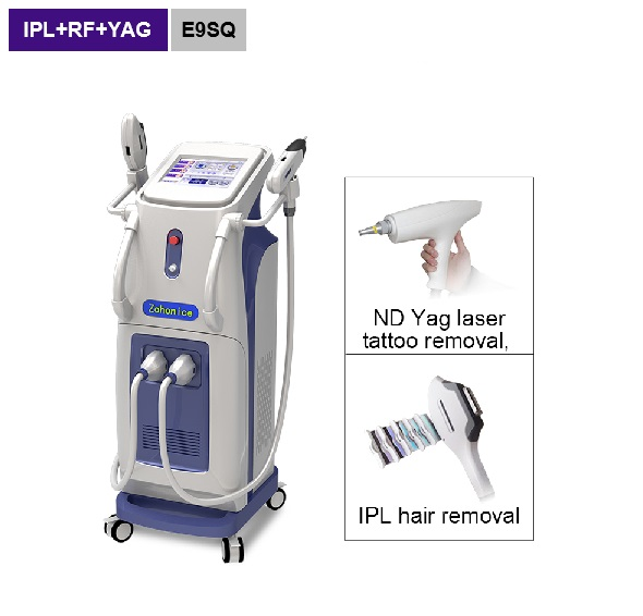 2 handles ipl hair removal tattoo removal beauty equipment E9SQ