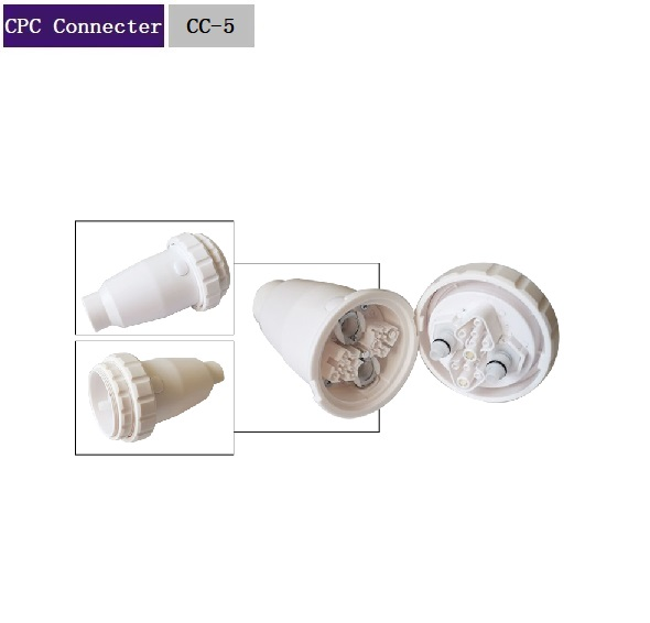 Plastic CPC White For IPL Machine Connector CC-5